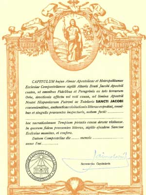 Exemplo de Compostelana - Compostelana e Fisterrana